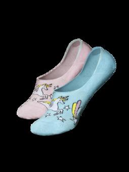 Vrolijke no show sokken Regenboog eenhoorn