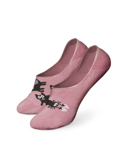 Lustige No-Show-Socken Rosa Katzen