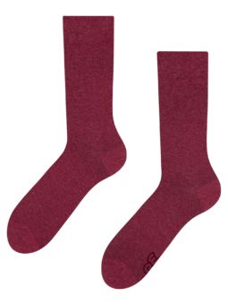 Recycled Cotton Socks Burgundy