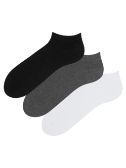 Trojbalení kotníkových ponožek z recyklované bavlny Klasik