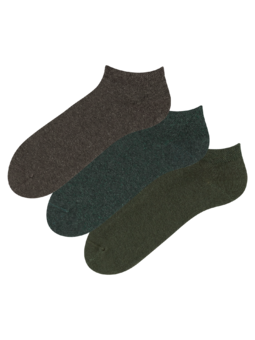 Recycled Cotton Ankle Socks 3-pack Hunter