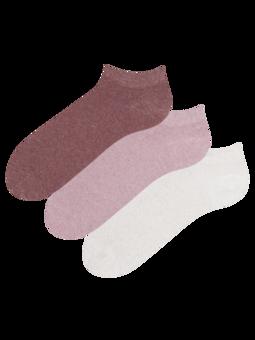 Trojbalenie členkových ponožiek z recyklovanej bavlny Optimista