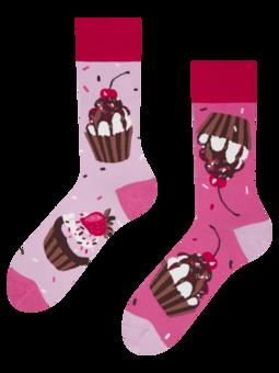 Veselé ponožky Růžové koláčky
