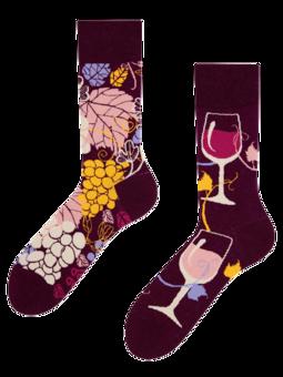 Živahne nogavice Rdeče vino