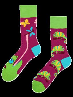 Vrolijke sokken Kameleon