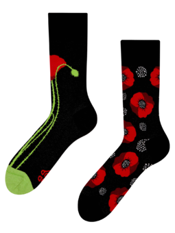 Regular Socks Poppy Flower