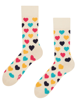 Regular Socks Colourful Hearts