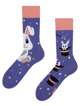 Vrolijke sokken Magisch konijn