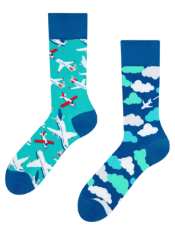 Regular Socks Airplanes & Clouds