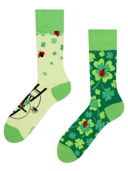 Regular Socks Four Leaf Clover for Luck