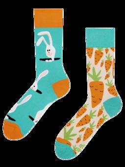 Veselé ponožky Mrkva a zajac