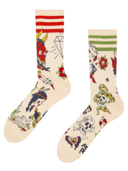 Vesele sportske čarape Old school tetovaža