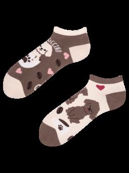 Veselé kotníkové ponožky Puppucino