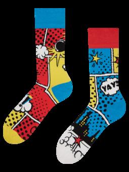 Lustige Socken Bunte Comics