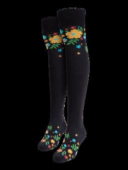 Over the Knee Socks Flowers
