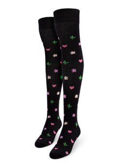 Over the Knee Socks Flowers & Hearts