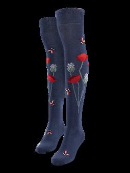 Over the Knee Socks Ladybugs & Poppy Flowers