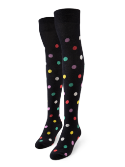Over the Knee Socks Dots All Over