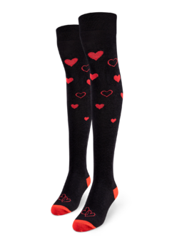Over the Knee Socks Love Hearts