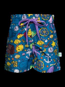 Veselé chlapčenské plavkové šortky Život piráta