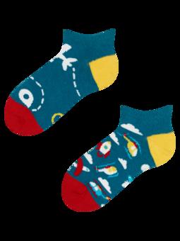 Veselé dětské kotníkové ponožky Letadla