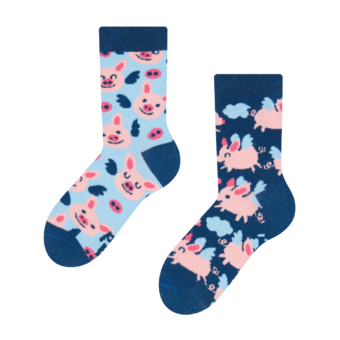 Kids' Socks Flying Pigs