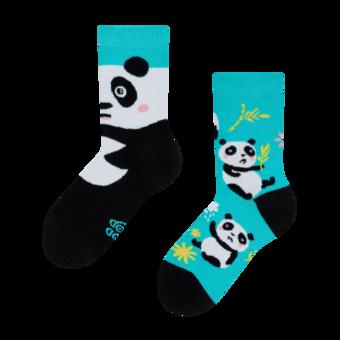 Lustige Kindersocken Panda