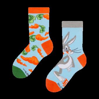 Detské veselé ponožky Bugs Bunny ™ Mrkva