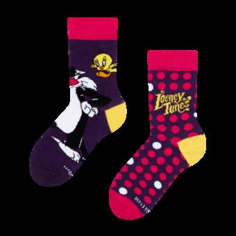 Dječje vesele čarape Looney Tunes ™ Sylvester a Tweety