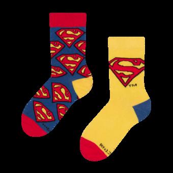 Chaussettes rigolotes enfant Superman ™ Logo