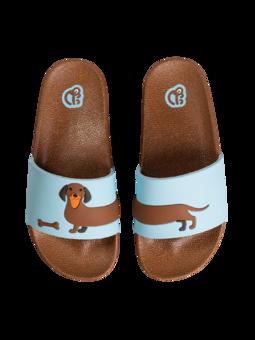 Veselé dětské pantofle Dlouhý jezevčík