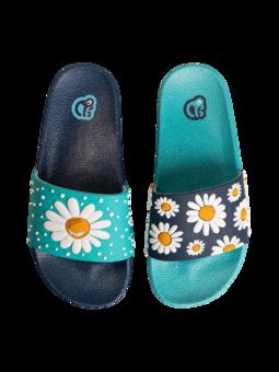 Veselé detské šľapky Kvet sedmokrásky