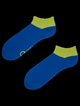 Modro-zelené kotníkové ponožky Symfonie