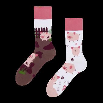 Veselé ponožky Šťastné prasiatka