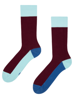 Chaussettes bordeaux Tricolore