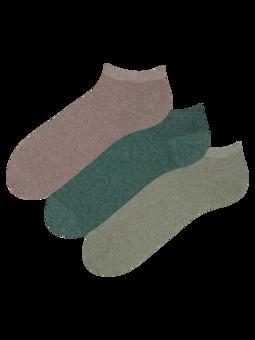 Confezione da 3 calzini alla caviglia in cotone riciclato Cacciatore
