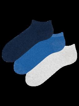 Trojbalení kotníkových ponožek z recyklované bavlny Vizionář