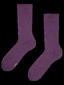 Čarape od recikliranog pamuka ljubičaste poput šljive