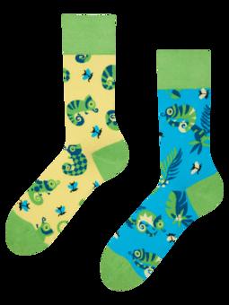 Veselé ponožky Chameleon a hmyz