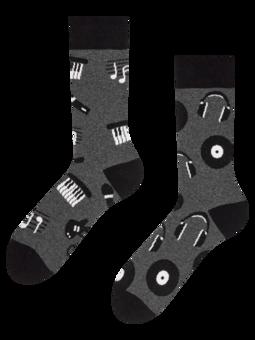 Veselé ponožky z recyklované bavlny Černobílá hudba
