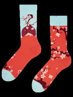 Vesele čarape od recikliranog pamuka Japanska sakura