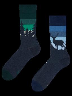 Vesele čarape od recikliranog pamuka Noćna šuma