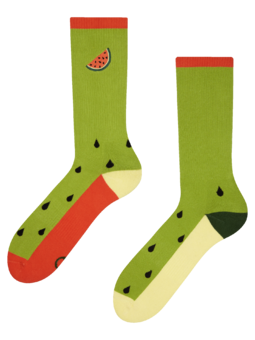 Veselé športové ponožky Melónove jadierka
