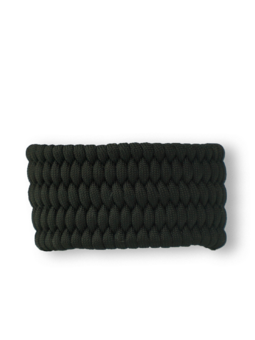 Гривна от паракорд Shield, черна, със запалка и свирка