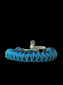 Blaues Paracord-Armband Skip mit verstellbarer Schnalle