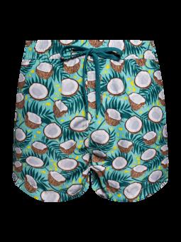 Veselé pánské plavkové šortky Kokosový ořech