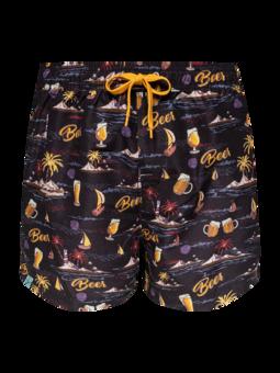Živahne moške plavalne hlače Pivo na plaži