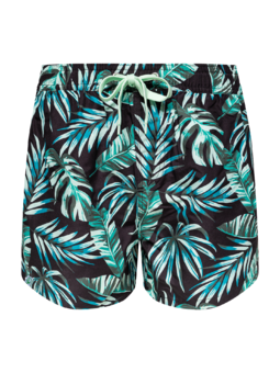 Vrolijke zwemshorts voor heren Tropische bladeren