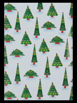 Papier d'emballage rigolo Arbre de Noël
