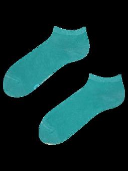 Bambusové členkové ponožky Pastelovo tyrkysové